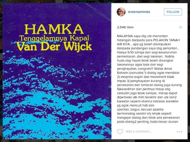8 - Izreen Azminda Kritik Lakonan Teater Amar Baharin - ROTIKAYA
