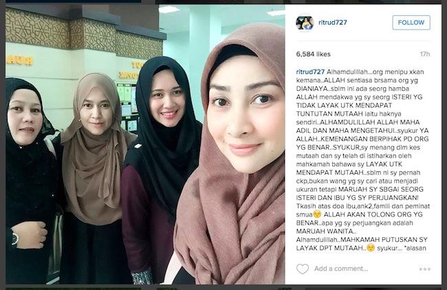 Rita Rudaini Bersyukur Menang Kes Tuntutan Mutaah - ROTIKAYA_in