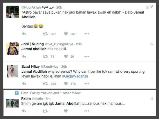 1- Terlalu Serius, Jamal Abdillah Dikritik Peminat Gegar Vaganza - ROTIKAYA