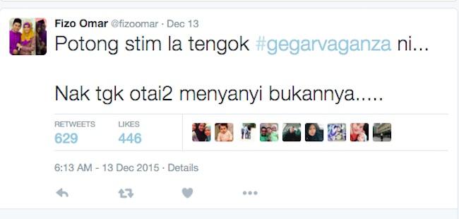 Kritik Penaja Gegar Vaganza- Fizo Omar Mohon Maaf